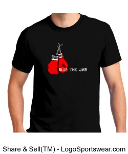 Renegade Adult Slip the Jab Rock the Cross T-shirt Design Zoom