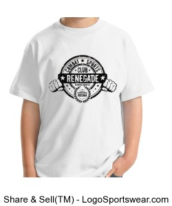 Renegade Youth Chin Down Bite Down Throw Down T-Shirt Design Zoom